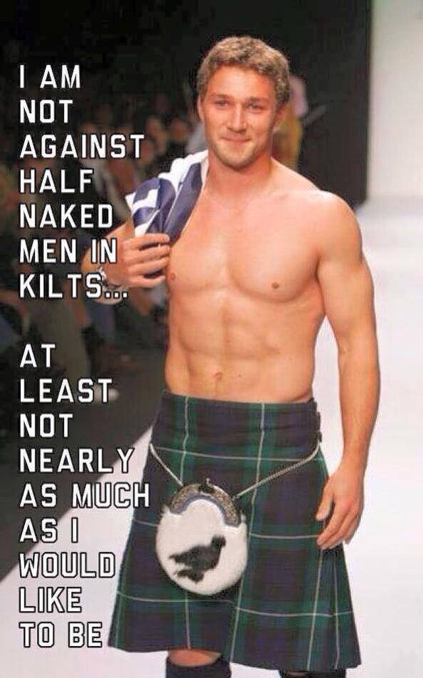 against men in kilts