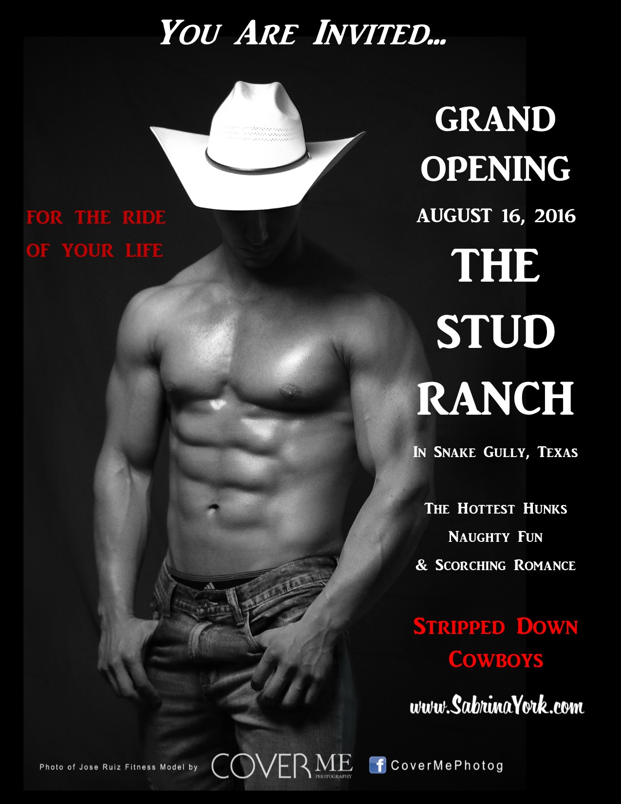 stud ranch promo flyer beckys cwboy